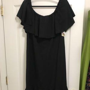 NWT 3XL Black LuLaRoe Cici Ruffle Dress
